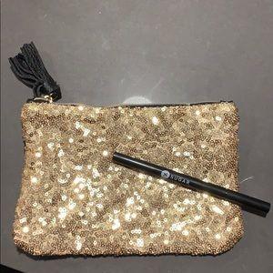 Eyebrow Pencil and Makeup Bag